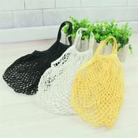 Wholesale door string - Fruit Bags Shopping Tools String Bag Hollow Portable Beam Environmental Protection Egg mesh bag New Pattern 4 5jz X