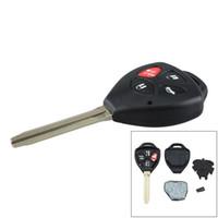 llaves de reemplazo toyota al por mayor-314Hz 4 botones de repuesto de alarma remota la llave del coche Fob transmisor de Clicker con 67 la viruta de Toyota HYQ12BBY CIA_41K