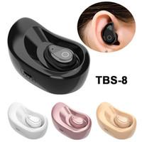 Wholesale Mini Sound Dock - Super Mini Bluetooth Earphone with Charging Dock Earphones Earbud Wireless Headset with MIC In-ear Earpiece Sport Running Studio Sound