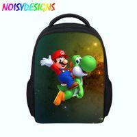 8fdf3df63dde School Bags Super Mario Pattern Kids Starry Backpack Children zipper School  Bags For Girls Boys Toddler Baby Bag Dropshipping