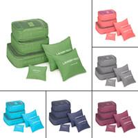 Wholesale Types Pc Case - Wholesale-Korean Style 6 Pcs Set Travel Home Luggage Storage Bag Clothes Storage Organizer Portable Pouch Case 6 Colors