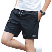 Wholesale hot male trunks - 2018 Hot Sales Summer Beach Shorts for Male Men's Casual Jogger Homme Solid Colors Male Outwear Shorts Men Trunk Plus Size M-5XL
