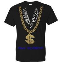 diseños del vestido del hip hop al por mayor-2017 Nueva Moda Hombre Camisetas Manga Corta PIMP BLING DISEÑO FANCY DRESS MENS T SHIRT STAG PARTY HIP HOP RAP 80S NAVIDAD