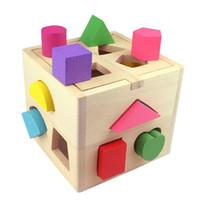 juguetes educativos para niños pequeños al por mayor-Juguetes de ladrillos para niños Juguetes educativos para bebés Bloques de construcción de madera para niños Juguetes para niños niñas Aprendizaje Herramienta de juguetes educativos