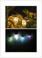 lanternas solares ao ar livre venda por atacado-DHL Solar Mason Jar Luz LED Movido A Energia Solar de Vidro Luz Decorativa Ao Ar Livre Lâmpada Pendurada Corda Lanterna de Fadas