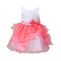 neue festzug kleider zum verkauf großhandel-Heißer Verkauf Neue heiß-verkauf Sommer Baby Mädchen Kinder Prinzessin Geburtstag Hochzeit Party Pageant Blume Kleid Mädchen Kleid
