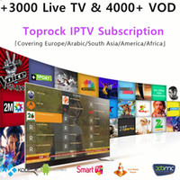 Wholesale 12 months live - Toprock IPTV Europe Arabic IPTV UK SPAIN ITALY Germany Sweden Albania XXX hotclub 3000 live channels VOD 3 6 12 Month