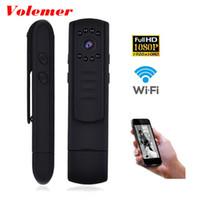 Wholesale portable wireless monitor resale online - Volemer L7 Mini Camera Wireless WiFi Night Vision HD p mini dvr DV body Monitor camera portable camcorders P2P Pen