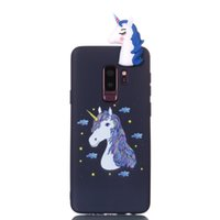cajas del teléfono lindo búhos al por mayor-3D suave de silicona para Galaxy S9 Plus S8 Note 8 (J7 J5 J3) 2017 UE de dibujos animados búho Unicornio Cat Bear Panda Dog lindo teléfono celular Lovely Cover