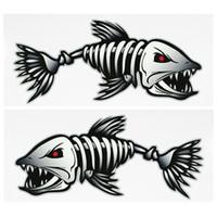 скелетные части оптовых-2 Шт. Рыбы Зубы Рот Наклейки Скелет Рыбы Наклейки Каяк Аксессуары Рыбалка Лодка Каноэ Каяк Графика Аксессуары