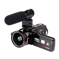 filmadora óptica venda por atacado-2019 WIFI 4K Camcorder 16X zoom 3.0 tela de toque HD 24 Mega Pixels Com IR Infravermelho Câmera de Vídeo Digital