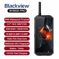 touch mp3 spieler groihandel-Offizieller original Blackview BV9500 Pro Smartphone 10000mAh Akku IP68 Wasserdicht 6GB 128GB Android 8.1 kabelloses Aufladen Walkie Talkie