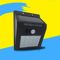 Wholesale Outdoor Wall Decor Wholesale - Garden Decor Induction Lamp 20 LED Solar Power Spot Light Motion Sensor Outdoor Wall Lights 17 5rs Y R