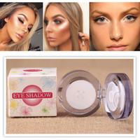 compõem rosto pó branco venda por atacado-Nova Marca Maquiagem Rosto Iluminador Maquiagem Highlighter Branco Make Up Glitter Pó Sombra Em Pó #