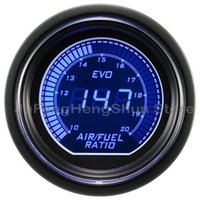 "Wholesale Ratio Digital - Wholesale-2"" 52mm Car Air Fuel Ratio Gauge Blue + Red LED Light 12V Tint Lens Auto Digital Electronic instrument Air-fuel ratio Meter"
