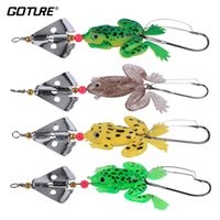 Wholesale carp lure frog resale online - spinner Goture Spinner Bait with Frog Lure cm g Silicone Bait Soft Lures for Bass Carp Fishing Tackle