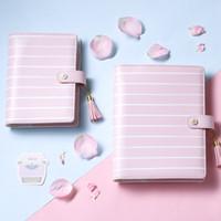 a5 planer großhandel-Lovedoki 2017 Kirschblüten Tagebuch Sakura Notebook A5 2017 Nette Wochenplaner Organizer A5a6 Büro Und Schulbedarf 2 stücke