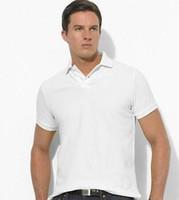 поло мужские спортивные тройники оптовых-Бестселлер размера S ~ 6XL Sales Golf polo Мужская футболка многоцветная тонкая рубашка поло с отворотом с коротким рукавом Футболки мужские спортивная рубашкаВысокое качество ми