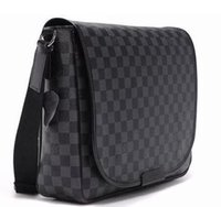 Wholesale Men Laptop Messenger Bags - Brand Men r Handbag Black Briefcase Laptop Shoulder Bag cross body bag school bookbag Messenger Bag MJ1016