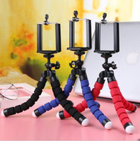 Wholesale Three Mobile Cell Phones - Toney Adjustable Three Legs Stand Aluminium Self Shooting Bracket Cell Phone Holder Mobile Phone Camera Flexible Mini Tripods free shipping
