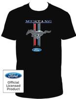 imagens roupa venda por atacado-FORD MUSTANG DIANTEIRO TRASEIRA LUVA TRASEIRA GARGANTA TSHIRT IMAGEM LICENCIADA OFICIAL Roupas T-Shirt Ginásio Roupas