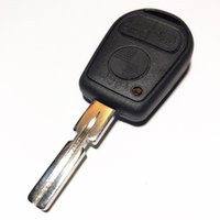e46 bmw uzaktan kumanda anahtarı toptan satış-3 Düğme Uncut Blade Araba Boş Anahtar Değiştirme Uzaktan Anahtar Kutu için BMW E31 E32 E34 E36 E38 E39 E46 Z3 Fob Uncut Anahtar Kabuk vaka