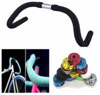 siyah sargı bandı toptan satış-Bisiklet Kolu Kemer Bisiklet Bisiklet Cork Gidon Bandı Wrap Ile 2 Bar Tak Kolu Bar Bant Siyah DDA187