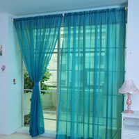 Wholesale pvc panels for sale - HOMEGD Pure Color Tulle Door Window Curtain Drape Panel Sheer Scarf Valances Apr7 Drop Ship