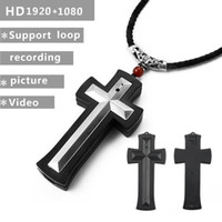 Wholesale camera cross - Cross Necklace Mini DV Camcorder HD 1080P Cross pendant pocket Camera digital voice Video Recorder DVR Outdoor Sport Action Camera