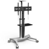 rad ende großhandel-High-End Mobile TV Carts Bodenständer für LCD LED Plasma-Flachbildschirme Stand mit Rädern Mobile Fit für 32 '' - 70 ', Max Unterstützung 45KG