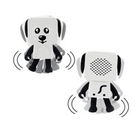 Wholesale mini speakers for kids online - 2018 Mini Super Cut Smart Dancing Robot Dog Bluetooth speaker Multi portable Bluetooth Speakers New years Christmas Gift For Child Kids DHL
