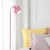 Wholesale floor reading lamps - Japanese style Pink floor standing Lamp Tall Piano Light Kids LED floor lamp Girl Princess Study reading lights Lambader