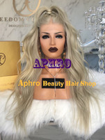 "Wholesale Blonde Wavy Wig Human Hair - Luxury Brazilian Virgin Hair Silk Top Gray Glueless Full Lace Wigs 20-30 inch 180% Density 5""x5"" Silk Gray Human Hair Natural Wavy Wigs"