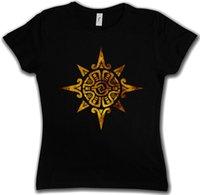 inder kultur großhandel-Frauen Tee Aztec Power Frauen T Shirt Indianer Zeichen Kultur Zivilisation Mayas Religion
