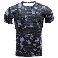 Wholesale multi camo shirt online - Fashion Camo d Print Slim Fit T shirt Men Short Sleeve Funny Tee