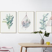Wholesale flowering plants pictures - Succulent Plants Cactus Flowers Posters Wall Art Canvas Painting Nordic Poster Picture Wall Pictures For Living Room Unframed