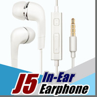 Wholesale em wholesale - DHL J5 Headphones In-Ear Earphone with Mic and Remote Stereo 3.5mm Headset for Samsung Galaxy S7 S6 S5 S4 S8 S9 F-EM