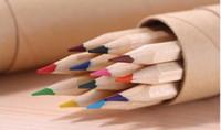 ingrosso penna a colori in legno-Matita colorata a colori eco-friendly Matita in legno Color Matita Set di 12 matite colorate per bambini