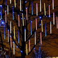 tubos de imersão venda por atacado-20 cm 30 cm 50 cm À Prova D 'Água DIP LED Chuva de Meteoros Chuva Tubos de Iluminação LED para a Festa de Casamento Decoração de Natal do Feriado LEVOU Luz Meteoro