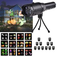 Wholesale Christmas Projector Lights Battery Operated Projection with Patterns Kids Handheld Flashlight Festival Decoration for Party Halloween