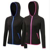 sueter rapido al por mayor-Chaqueta de deporte de las mujeres de invierno de las correas Ejercicio de gimnasio Yoga Sweater Secado rápido Ropa de deporte comprimida flexible más tamaño