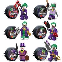Wholesale Toy Demon - Joker with Storage Box 6 Roles Super Heroes Figures Tuxedo Mystic Oscar Wall Street Dress Demon Jokers Mini Building Blocks Figures Toy
