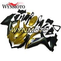 suzuki k8 gold großhandel-Für Suzuki GSXR600 GSXR750 K8 Baujahr 2008 2009 2010 Vollverkleidungen Neue Hochwertige Rümpfe ABS Injection Bodywork-Black Gold