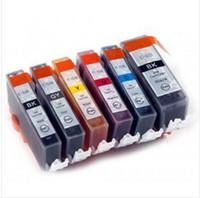 ingrosso stampanti pixma-Cartuccia d'inchiostro compatibile 6 colori PGI 525 CLI 526 BK C M Y GY Per Canon PIXMA MG6150 MG6250 MG8150 inchiostro MG8150 completo di inchiostro