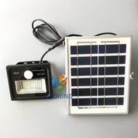 projecteurs de mouvement achat en gros de-Projecteur solaire à LED avec détecteur de mouvement PIR et fil long Projecteurs 10W 20W 30W 50W 100W
