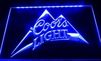 Wholesale Coors Beer Lighted Signs - F036 coors light beer bar pub logo NEW 3D LED Neon Light Sign Retail and Dropshipping Wholes 8 colors Customize on Demand