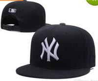 Wholesale 3d embroidery hats - 2018 New NY Baseball Caps Hiphop Men Women bone Adjustable Hats 3D embroidery MLB New York Yankees Snapback Cap Headware