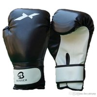 Wholesale kung fu gloves online - Muay Thai Training Mitt Kung Fu Fighting Martial Arts Gloves MMA Free Combat Boxing Gloves Punching Bag With Professional Boxing Match