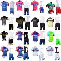 Wholesale lampre team clothes online - 2018 LAMPRE LIVESTRONG Cycling Jersey Summer Pro Team Short Sleeve Ropa Ciclismo quick dry Bike Bib Shorts Set Clothing Sportswear