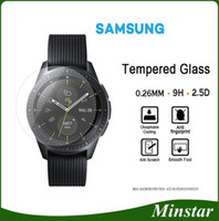 активные часы оптовых-Закаленное стекло для Samsung Smart Watch Active 42мм 46мм Gear Sport Classic S2 S3 S4 Для Fitbit Versa Blaze Защитная пленка от перенапряжения